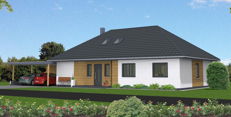Fassadengestaltung modern bungalow  Winkelbungalow in Alfstedt