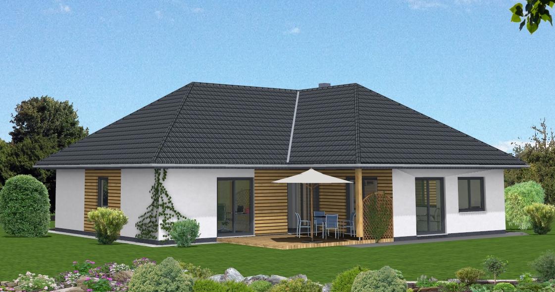 Winkelbungalow in alfstedt for Fassadengestaltung beispiele bungalow